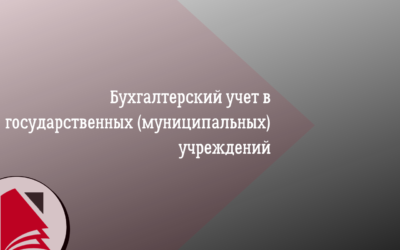 Бухгалтерский учет в государственных (муниципальных) учреждений