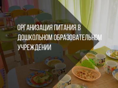Организация питания в дошкольном образовательном учреждении